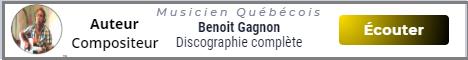 Benoit Gagnon auteur compositeur interprète